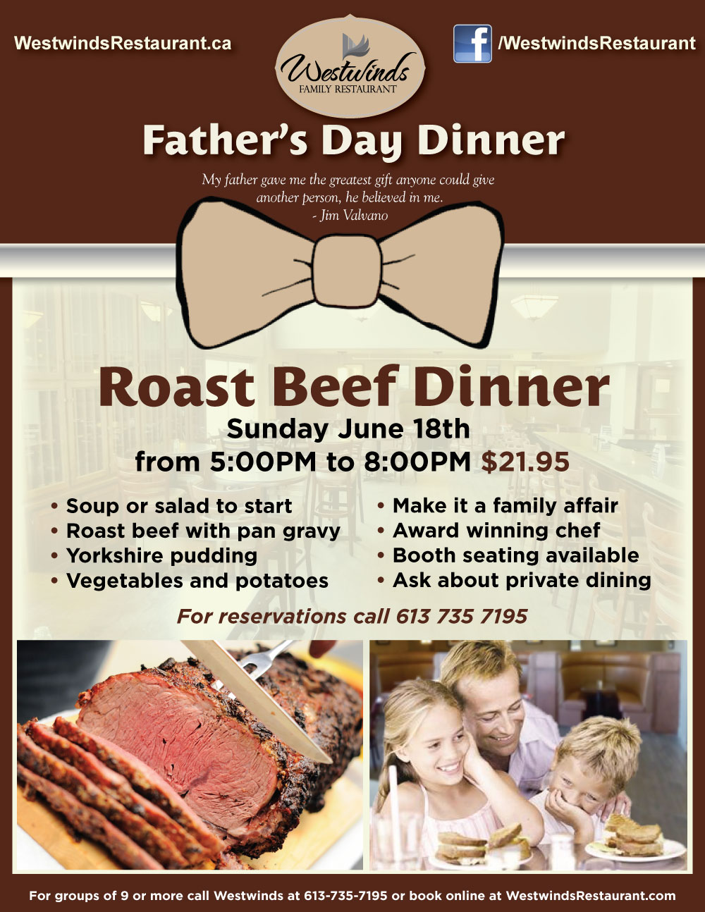 Treat Dad to a Roast Beef Dinner for Father's Day
