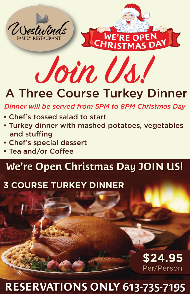 Let's Talk Turkey: Westwinds is Opened Christmas Day [Expired]