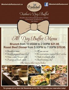 Father's Day Menu 2015