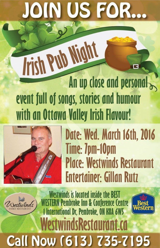 Join Westwinds for a St. Patty's Celebration