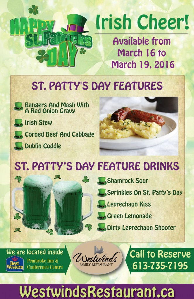 Join Westwinds for St. Patty's Day