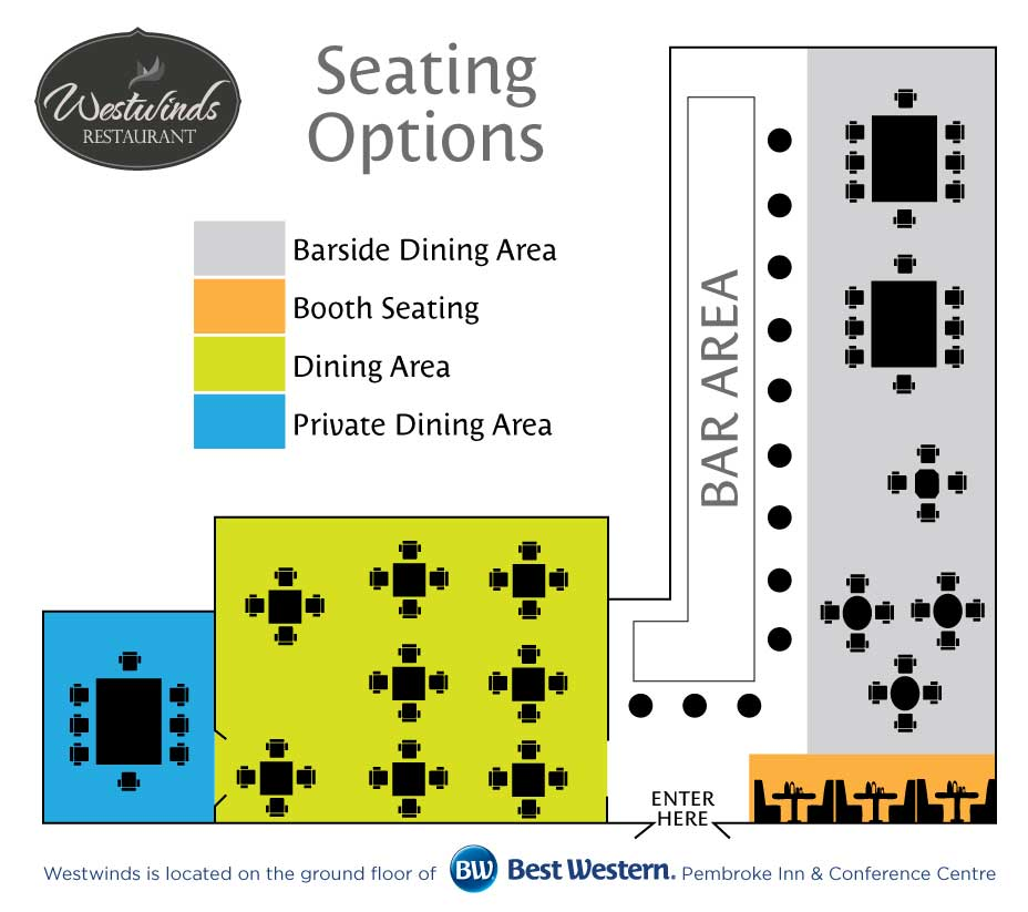 Westwind's Seating Arrangements